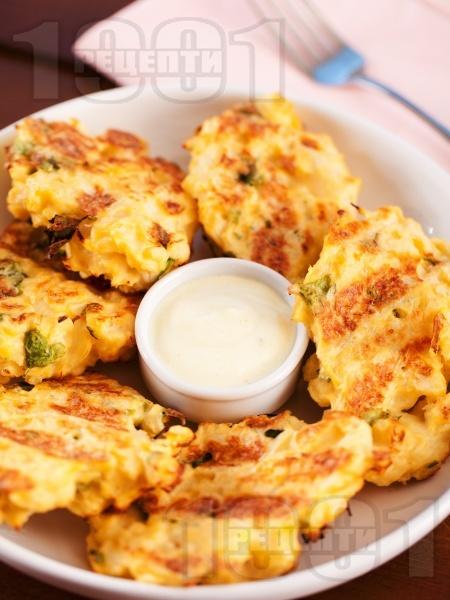 Пържени вегетариански крокети от карфиол - снимка на рецептата